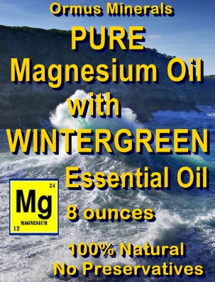 Ormus Minerals -Pure Magnesium Oil with WINTERGREEN EO