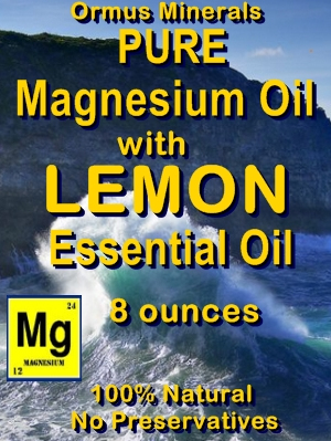 Ormus Minerals -Pure Magnesium Oil with LEMON EO